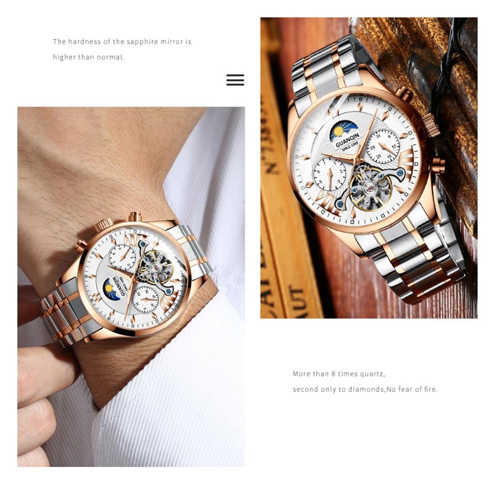 relógio mecânico marca superior luxo à prova
