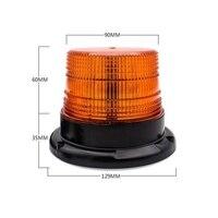 12V 7.5W LED Warning Light Forklift Traffic Engineering For Car Strobe Light Magnetic Ceiling Lamp New