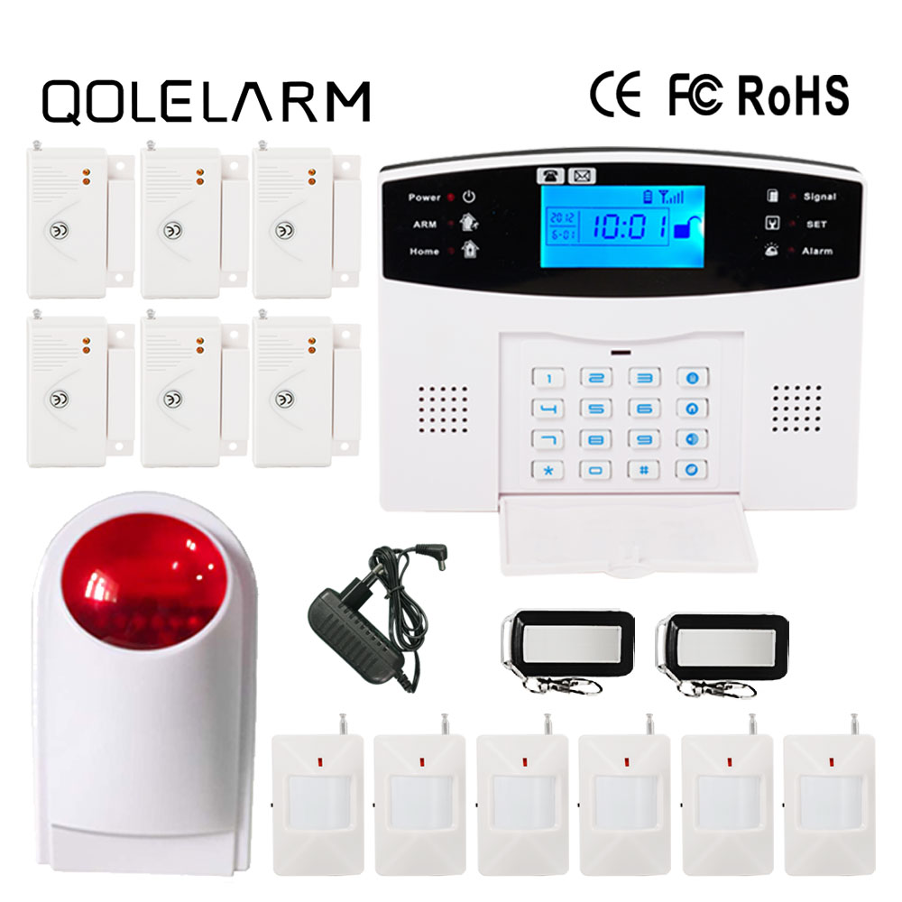 433 MHz Wireless Russian/Portugue/French voice prompt GSM alarm system home security with wireless outdoor siren solar powered high quality solar spot alarm system kit 433mhz wireless outdoor siren with bright flash to make powerful warning