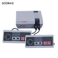 SCOMAS 8 Bits Clássico Consolas de jogos Da Família Sistema de Vídeo TV Mini Handheld Consola de jogos Para O Jogador Do Jogo de NES Embutido 620 jogos