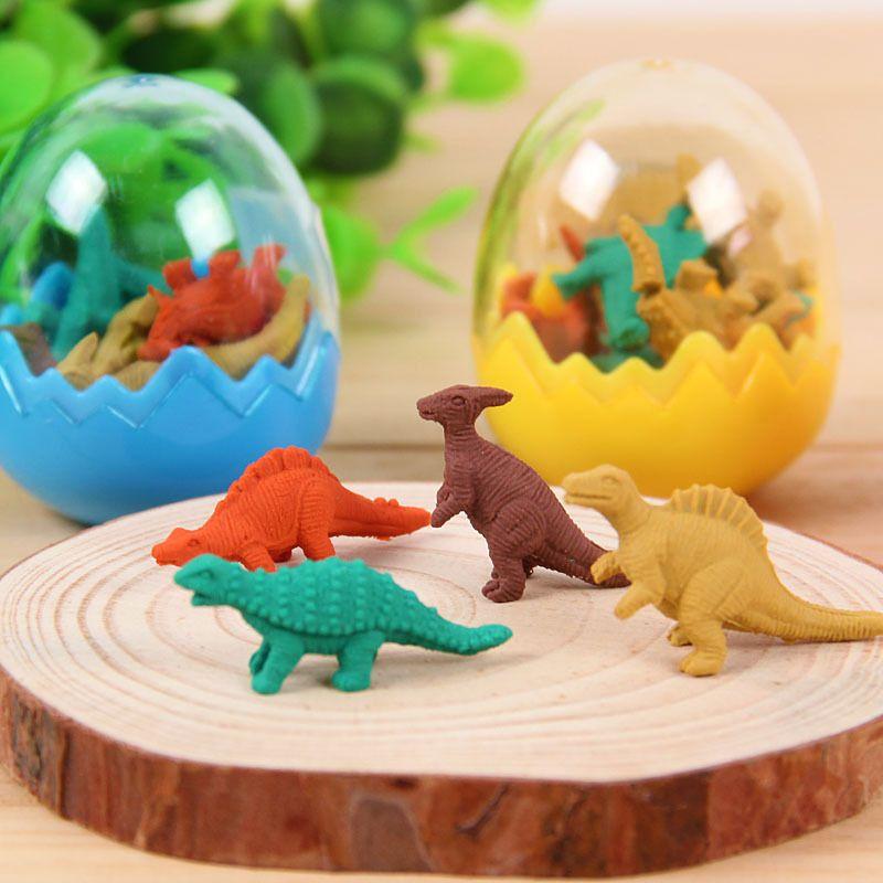 3d Kawaii Eraser Borracha Escolar Gomas De Borrar Gomme Silgi Papelaria Criativa Fourniture Scolaire Erasers Dinosaur Eggs