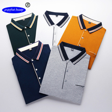 TopMens New summer Polo Shirt Men top quality 100% cotton Mens Short Sleeve Embroidery Male Brand Clothing