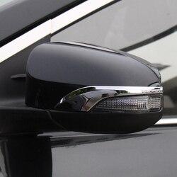 Dla Toyota Avalon 2013 2014 2015 2016 ABS Chrome samochodów lusterko wsteczne dekoracji listwa obiciowa wykończenia pokrywy samochodu stylizacji akcesoria 2 sztuk