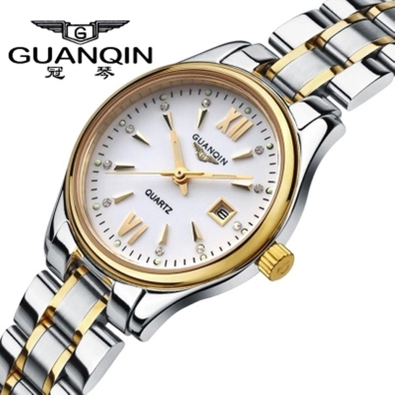 ФОТО Original Brand GUANQIN Women Watch Ladies Fashion Luxury Quartz Watch Waterproof Dress Woman Wrist Watches Clock Montre Femme