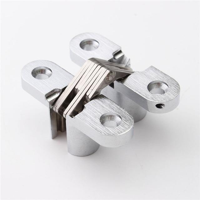304 Stainless Steel Hidden Hinges 13x45MM Invisible Concealed Door Hinge Bearing 20KG With Screw For Folding Door