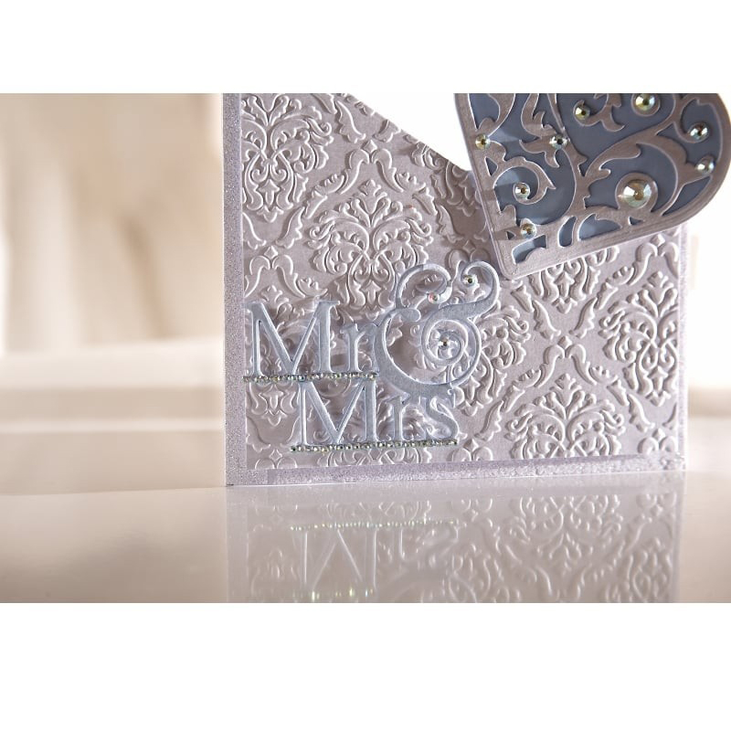 Mr Mrs DIY Alphabet Cutting Dies Embossing Stencil Scrapbooking Template Card Album Photo Making Decoration Handicraft in Cutting Dies from Home Garden