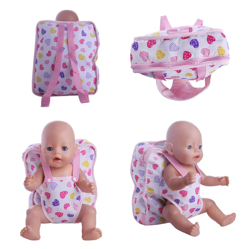 backpack for 18 inch American girl doll and 43cm Baby Born zapf Doll rose christmas gift 18 inch american girl doll swim clothes dress also fit for 43cm baby born zapf dolls