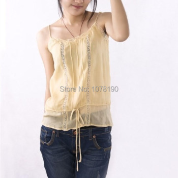 100% pure silk Camisole breathable small tanktop woman top 1