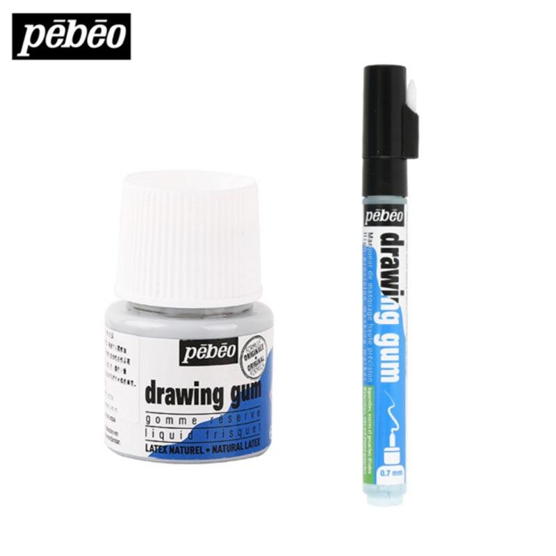 France Imported Watercolor White Liquid Mark Pen Drawing Gum Blocking Liquid  Watercolor Pigment Medium Leaving White Glue 45ml