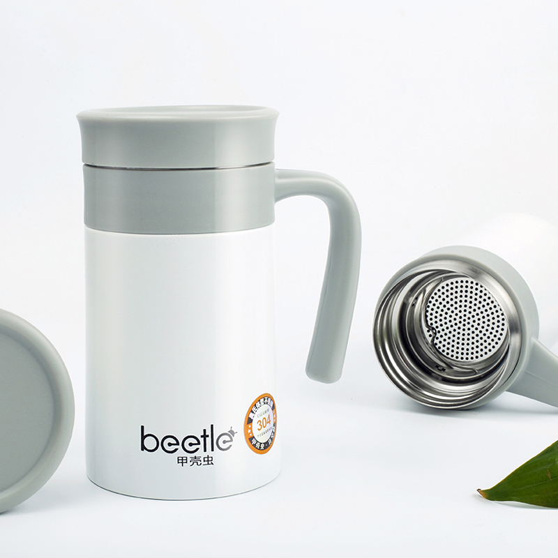 Brand New Beetle 520ml Thermos Mug With Strainer Office Coffee Cup Stainless Steel Thermal Bottle In Vacuum Flasks Thermoses