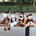 25cm Germany Nici Cowboy Series Plush Toy love toys Tiger/ Lion /Giraffe /Monkey for Birthday gift 4pcs/lot