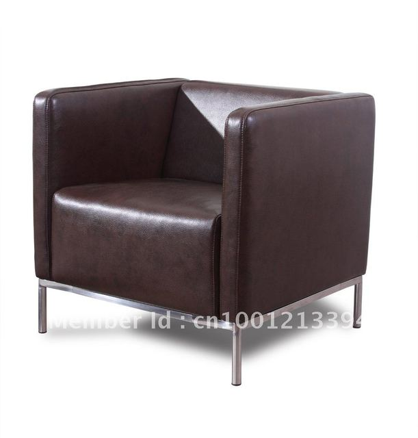 Modern Furniture Living Room Fabric Bond Leather Sofa Chair One Seater