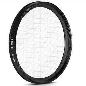 Image 4 - 58mm star filter camera lens filter star 4  6  8 cross 4 6 8 point for canon 500d 450d 550d 600d 1000d 1100d 18 55mm lens