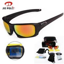 Цзе полли поляризованный тактические очки уф-защитой военных очки tr90 армии google пуленепробиваемые очки, 4 объектив 2 цвета