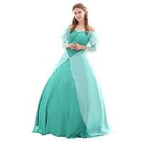 The Little Mermaid Ariel Princess Dress Ariel Green Wedding Dress Costume Halloween Carnival Cosplay Costume