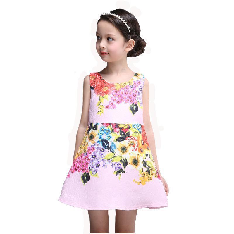 43fcdf05e86ef US $17.51  Baby Girl Dress Sleeveless Rose Flower Gilrs Clothes Kids  Dresses Winter Designer Princess Dress Christmas Vestidos De Para Fest-in  Dresses ...