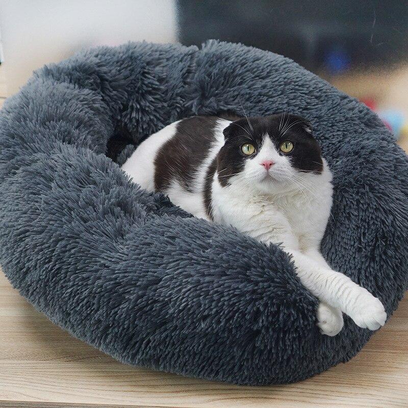 Lit pour chien/chat multicolore Super doux Superbe chenil de profondeur rond chaud