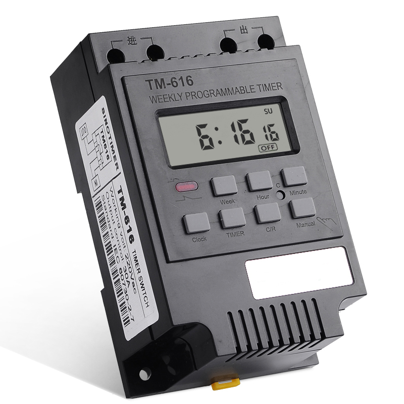 Consumer Electronics Frugal Tm616 30a Ac 220v Digital Time Switch Weekly Programmable Electronic Timer Bringing More Convenience To The People In Their Daily Life Chargers