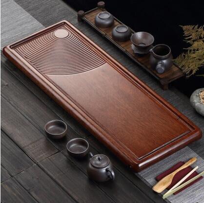 En bois plateau de thé, ménage soucoupe, solide plateau en bois, simple thé plateau