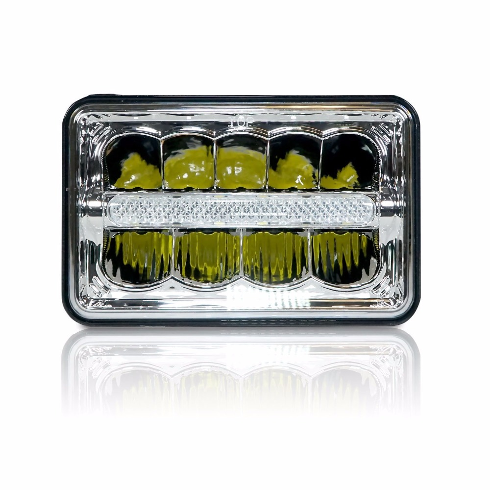Rectangle Auto Light 4 X 6 Led Headlights High Low Beam H4 Replace HID Xenon Headlamp H4651 H4652 H4666 H6545 Projector Lens