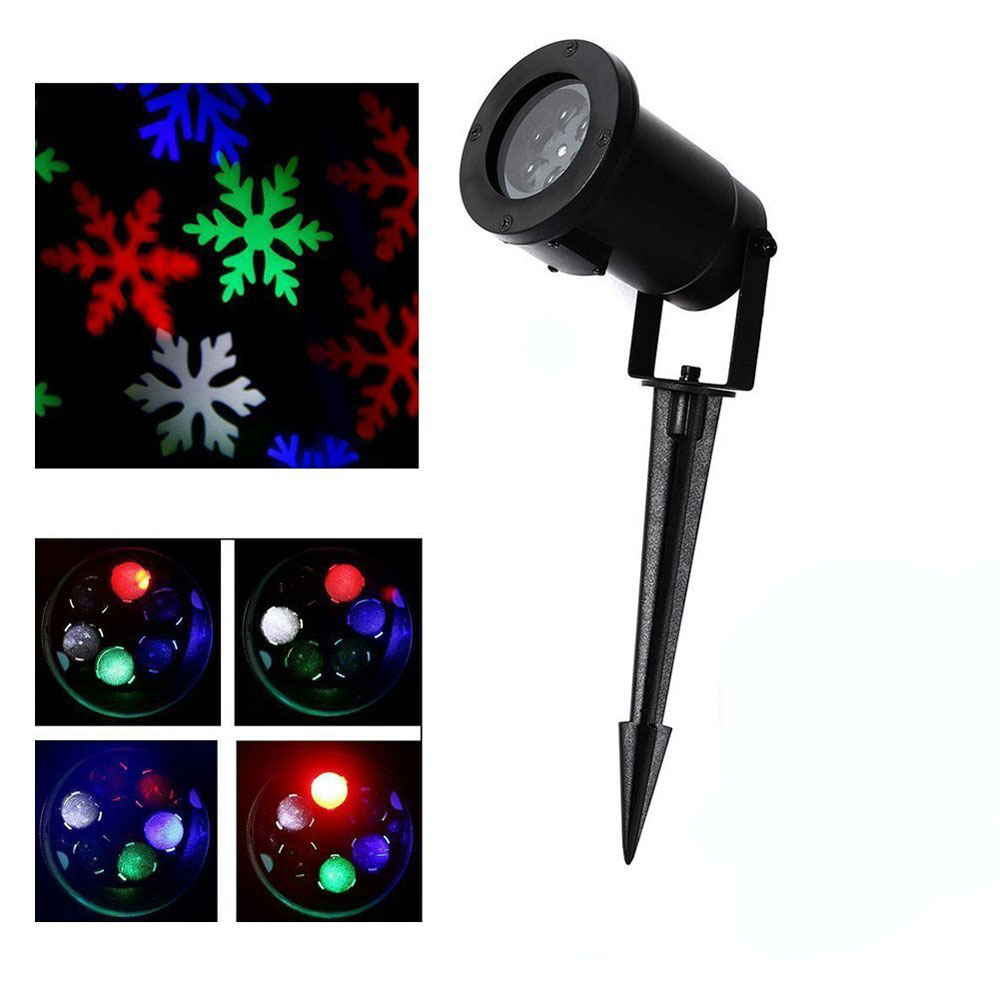 Dhl free outdoor holiday light rgb snowflake projector - Snowflake exterior christmas lights ...