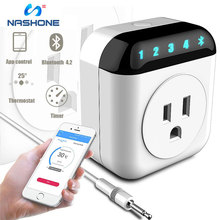 Nashone Digital Temperature Controller Heat & Cool Bluetooth Plug App Remote Control Socket Thermostat Timing Countdown Function tf cnt fn tf cnt f timing chronograph countdown stopwatch led game display control card single dual color remote controller