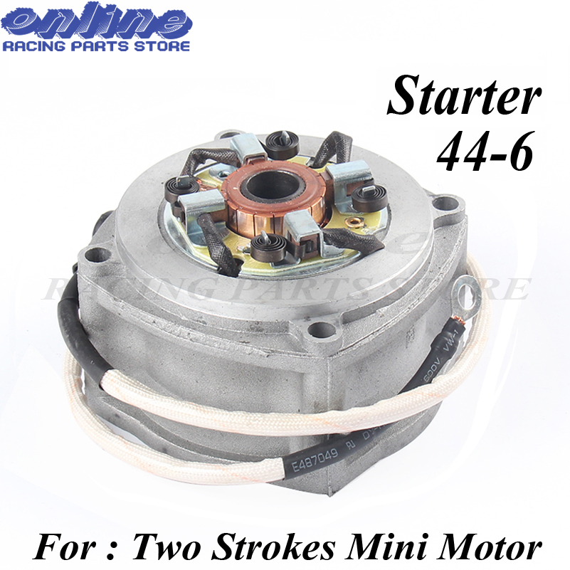 Electric Starter for 2 stroke engine 49cc pocket bike mini dirt bike mini ATV 49cc Motorcycle