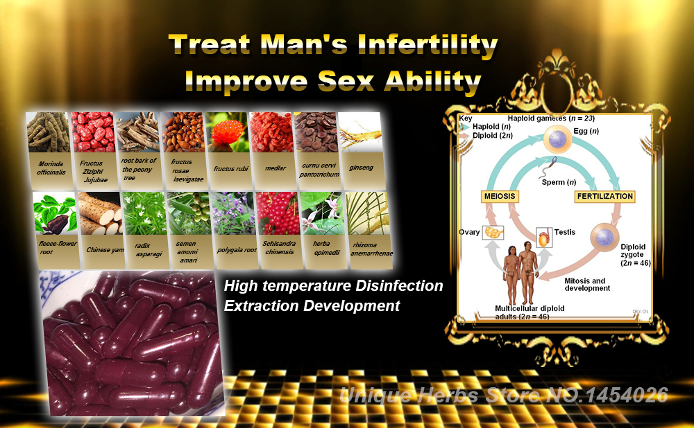 Natural Herbal Extraction Formula to Accelerate Sperm Regeneration, Improve Intercourse Behavior and Strength and Stamina