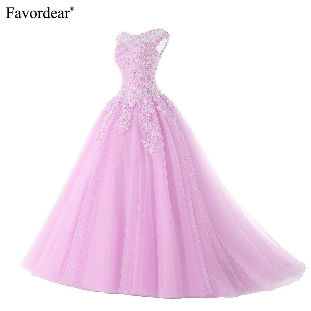 Favordear 2019 New Quinceanera 15 Years Vestidos De 15 Anos Cap Sleeve Red Pink Lavender Quinceanera