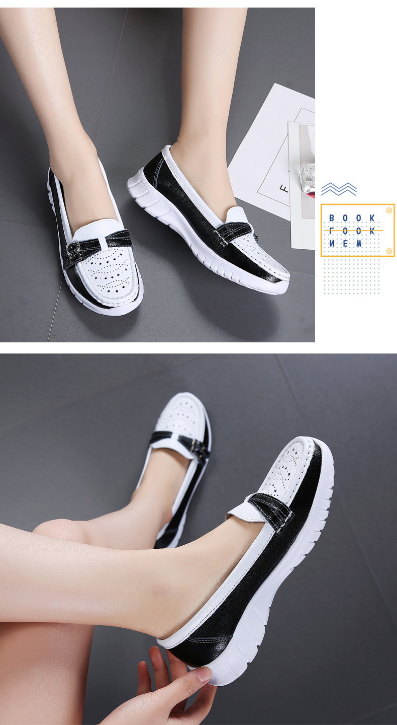 Spring Women Shoes Genuine Leather Handmade Flats Casual Shoes Woman Slip-on Loafers Ballet Flats Ladies Shoes Slipony (20)