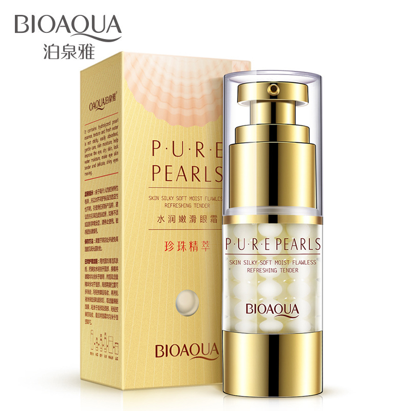 BIOAQUA Pearl Eye Cream Anti Aging Puffiness Wrinkle Eye Cream Lifting Under Eye Bag Dark Circle Removal Cream Face Eye SkinCare
