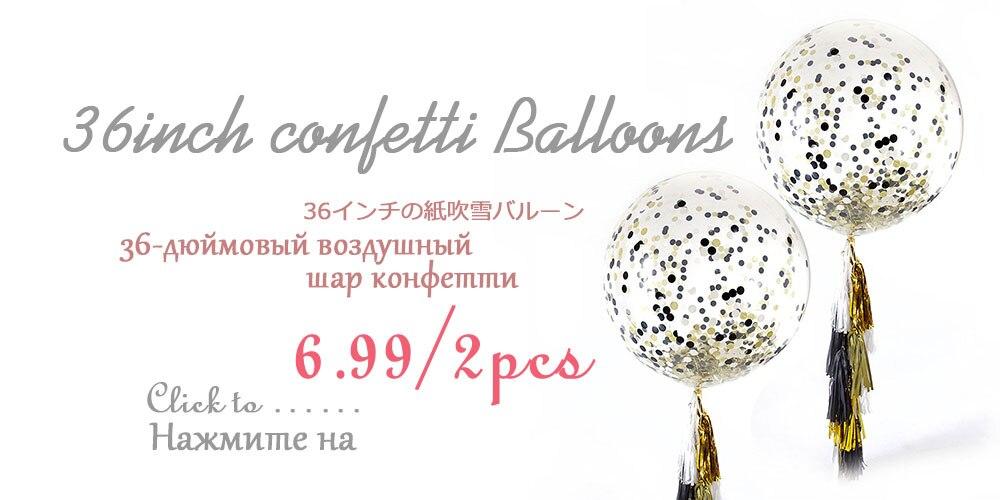 Alohar 37pcs Rose Gold Party Decorations Birthday Happy Banner Foil Balloon Latex Balloons