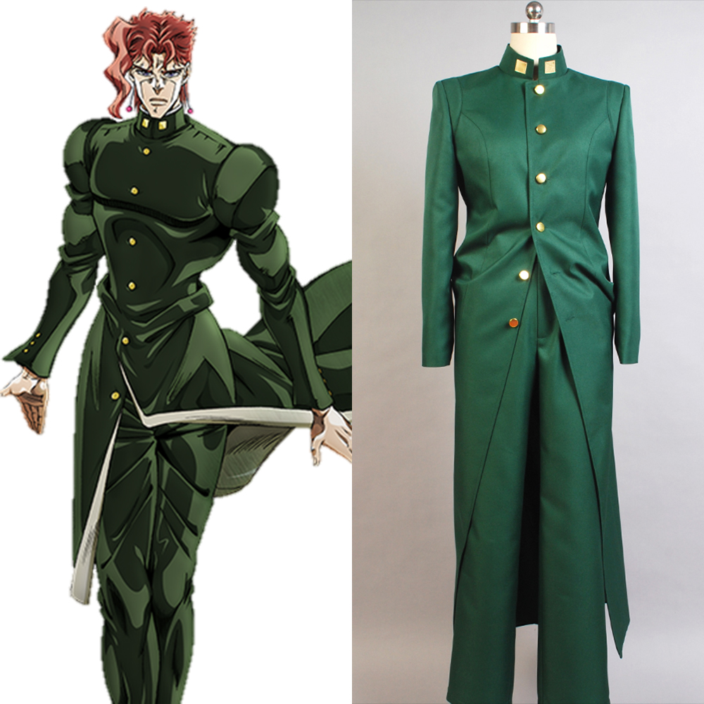 JoJo's Bizarre Adventure Stardust Crusaders Noriaki Kakyoin Cosplay Costume Full Set Uniform Cosplay Halloween Carnival Costume
