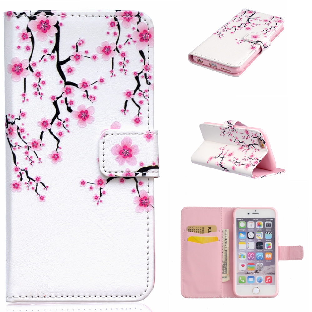 Phone Cover For Apple iPhone 6S & 6 4.7inch Cute Leather Cases Mobile Phone Deals Wallet For iPhone 6 Case Different Pattern