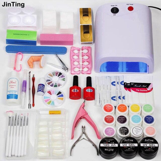 Nail Polish Kit With UV Lamp 36W Nail Dryer Lamp UV Gel Nail ...