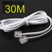 10pcs High Speed 30m 90ft RJ11 Telephone Phone ADSL Modem Line Cord Cable