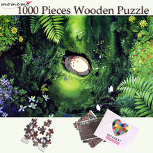MOMEMO Sleep Totoro 1000 Pieces Wooden Puzzles Hayao Miyazaki Anime My Neighbor Puzzle Toy for Adults Teenagers Kids