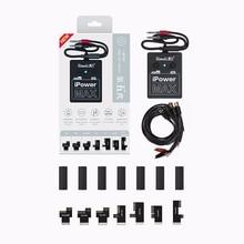 Cabo de teste ipower max dc para celulares, fio de controle de energia para iphone 6g/6p/6s/6sp/7g/7p/8g/8p/x xs xsmax