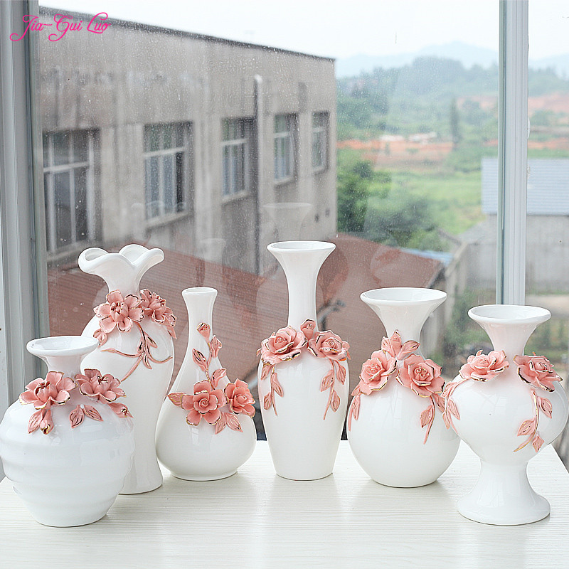 JIA GUI LUO Chinese ceramic vases home desktop accessories dried flowers and decorative flower containers ornaments