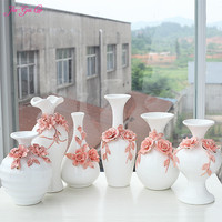 JIA GUI LUO Chinese ceramic vases home desktop accessories dried flowers and decorative flower containers ornaments C008