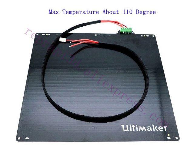 Imprimante 3D en aluminium, Ultimaker, 2, ultimatum, avec Table dimpression, lit chauffant jusquà 110 degrés, 24V, 3,5 ohm, avec PT100