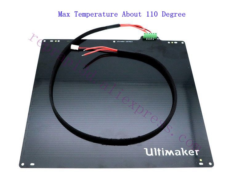 Up To 110 Degree 3D Printer Aluminum UM2 Ultimaker 2 / Ultimaker 2 Extended UM2+ Print Table Heated Bed 24V 3.5Ohm W/ PT100