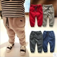 2017 New kids boy girl  Autumn winter clohes  sweater pants  trousers fleece inside  winter baby girl boy dress trousers pants