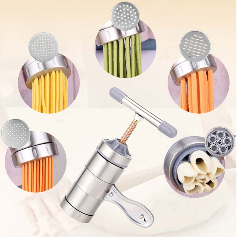 Kitchen Stainless Steel Manual Pasta Machine Hand Pressure Noodle Machine Noodle Maker...