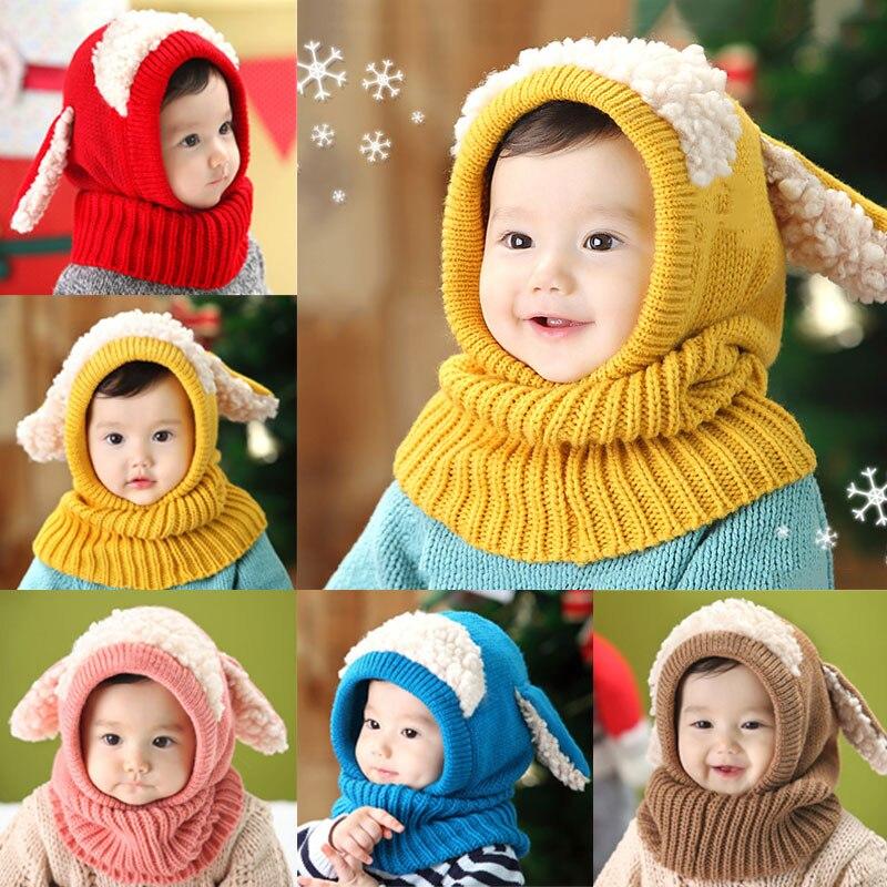 ⑧Nuevo invierno cálido bebé sombrero Beanie bufanda con estilo ...