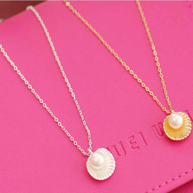 Biżuteria koreańska czeski naszyjnik proste podkreślające temperament masa perłowa kształt naszyjnik damski elegancki naszyjnik