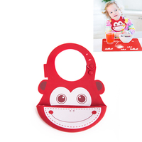 Silicone Bib Set Baby Bibs Placemat Waterproof Baby Burp Cloths Baby Girl Bibs Boys Products Feeding