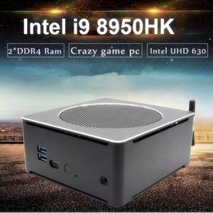 EGLOBAL Game PC Intel i9 8950HK i9 9880H i7 9850H i5 9300H Nuc Mini PC Windows10 Pro HDMI AC WiFi BT 4K Mini Server Computer