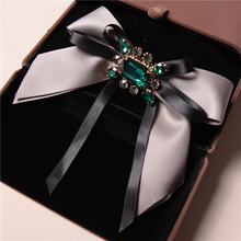 Creative bow tie Rhinestone Butterfly women ties Girl Studded collar bowknot Retro Lady girl Shirt Apparel Accessories