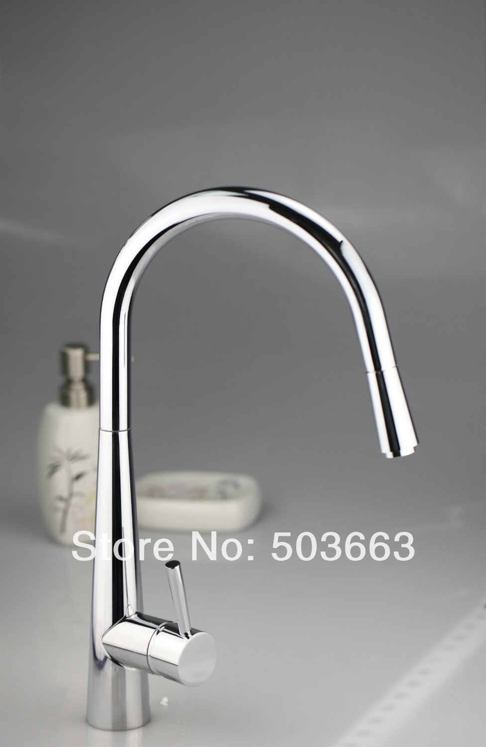 цена на Good Quality Chrome Brass Water Kitchen Faucet Swivel Spout Pull Out Vessel Sink Single Handle Deck Mounted Mixer Tap MF-376